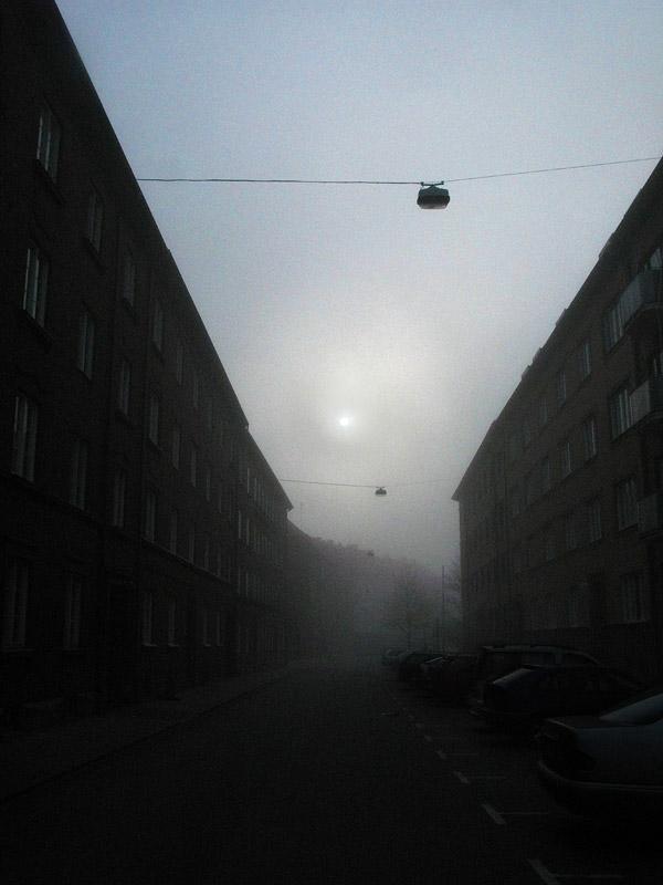 Dimma på simrishamnsgatan i Malmö