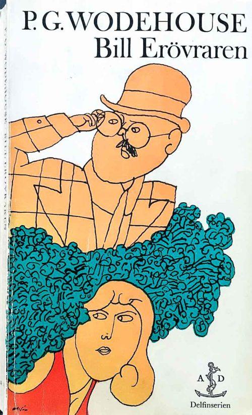 En illustrerad man och kvinna som gömmer sig i ett buskage.