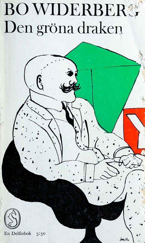 Illustrerad man sittandes i en fåtölj.
