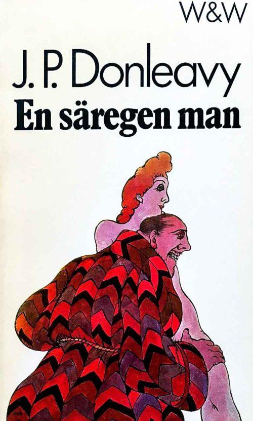 En sliskig man i morgonrock som lägger sin hand på en kvinna.