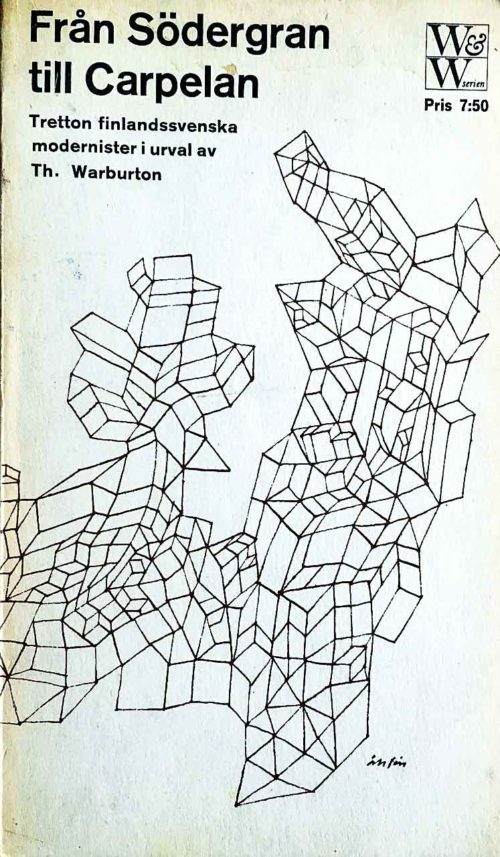 Ett mönster av kvadrater som växer fram över bokens framsida