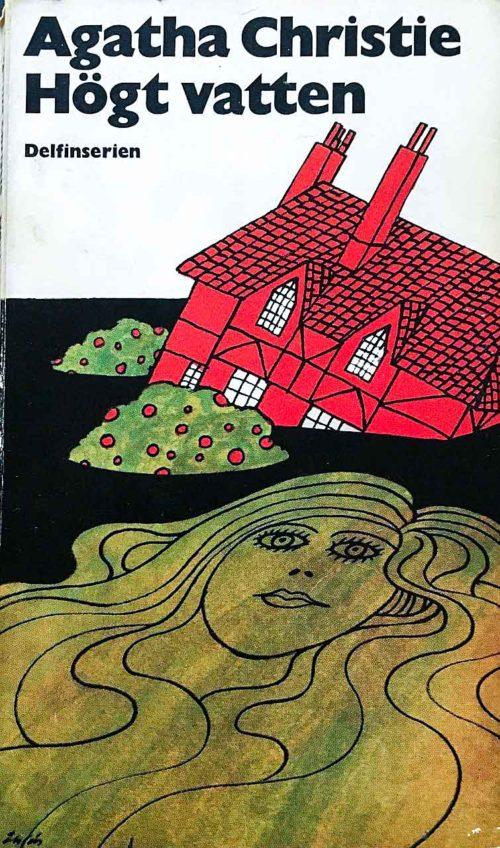 Ett hus som skjunker och en kvinna som flyter på rygg.