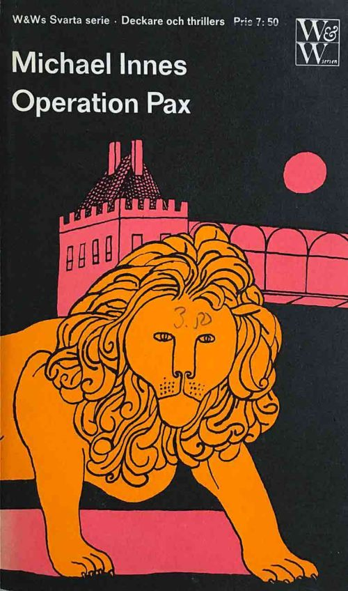 Ett lejon framför ett slott