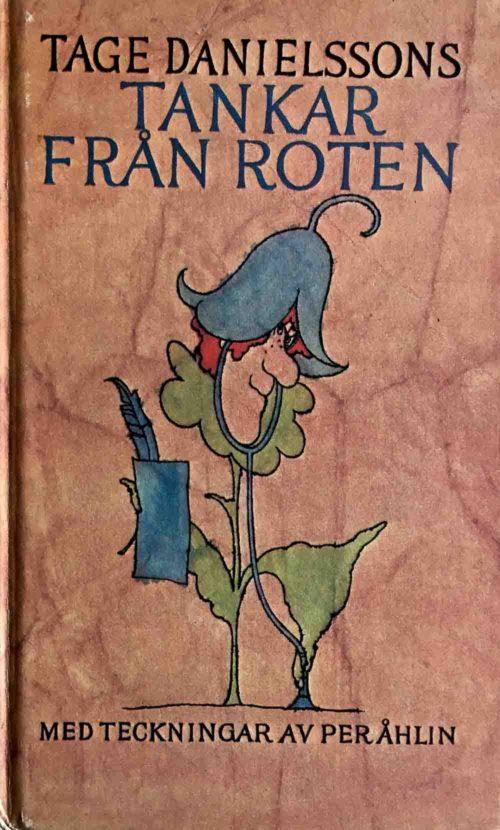 Tage Danielsson illustrerad som en blomma