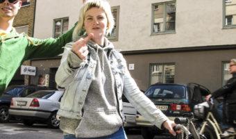 Anna Jonsson och Petter på Simrishamnsgatan