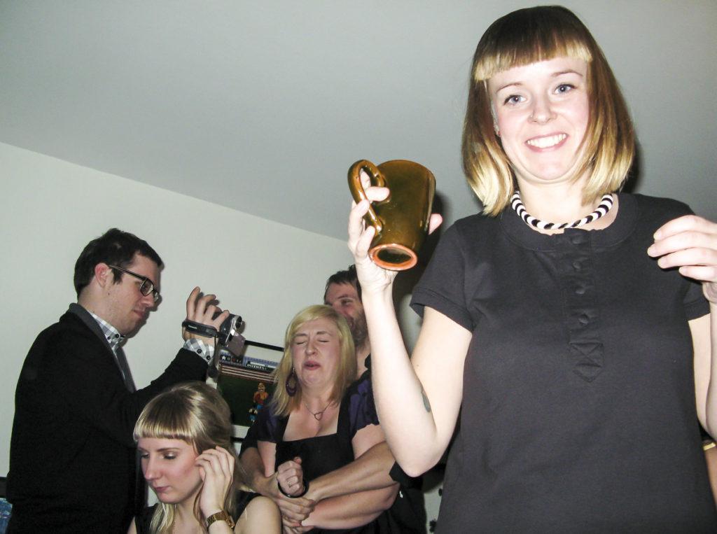Johanna på nyårsfest