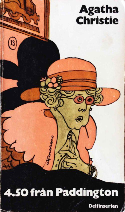 Kvinna i plymhatt illustrerad av Per Åhlin