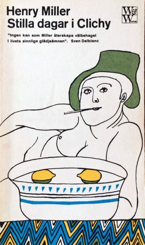 En rökande illustrerad kvinna.