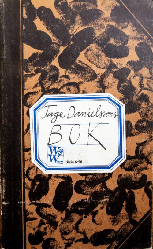 En klisterlapp med namnet Tage Danielssons skrivet på