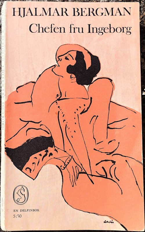 Bbokomslag med stiliserad kvinna ritad i profil