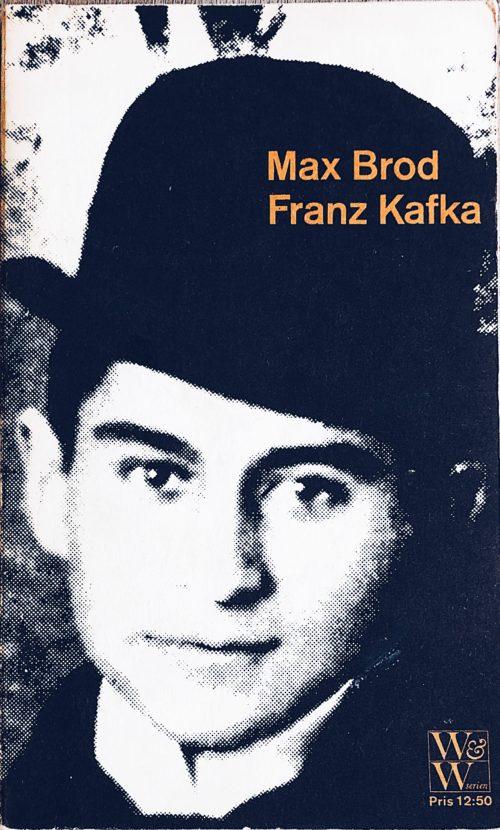 Bokomslag med stiliserat ansikte föreställande Franz Kafka
